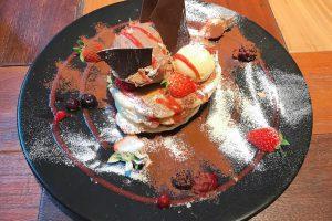 フォンダンショコラストロベリーパンケーキ