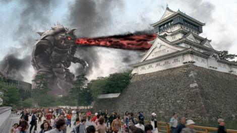 スコーピスが小倉城を破壊している画像